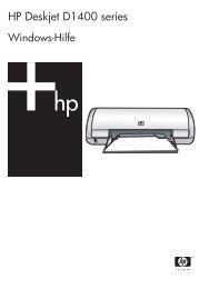 HP Deskjet D1400 Printer Series - Hewlett Packard