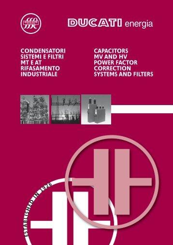 condensatori sistemi e filtri mt e at rifasamento industriale capacitors ...