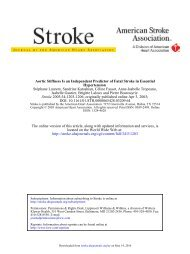 Aortic Stiffness Is an Independent Predictor of Fatal Stroke in ...