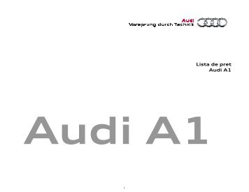 Lista de preturi - A1 Sportback