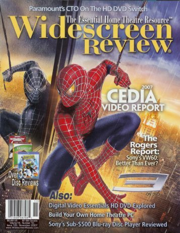 Read the WideScreen Review! - X-Rite