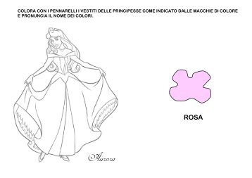 Colora le principesse Disney - La Teca Didattica