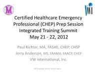 Certified Healthcare Emergency Professional - The 2012 Integrated ...
