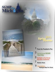 MiSGMP Spring/Summer 2013 - Michigan Chapter - Society of ...