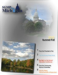 Summer-Fall - Michigan Chapter - Society of Government Meeting ...
