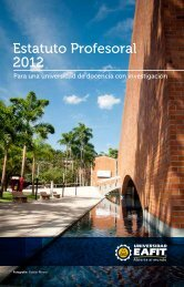 Estatuto Profesoral 2012 - Universidad EAFIT