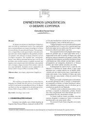 empréstimos linguísticos: o debate continua - Revista de Letras