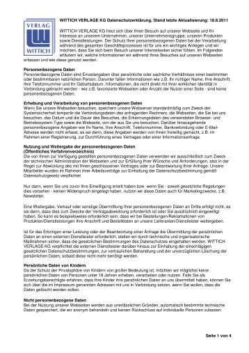 Die Datenschutzrichtlinie hier im PDF-Format herunterladen.