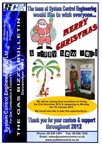 December 2012 - System Control Engineering, Penrose