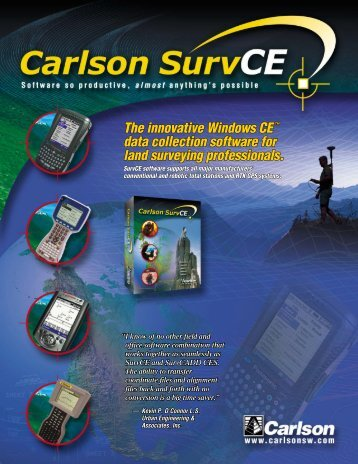 The innovative Windows CE™ data collection ... - Carlson Software