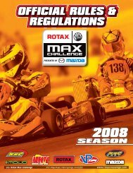 technical regulations - Red Line Oil Karting Championships
