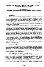 ASPECTE PRIVIND TEHNOLOGIA DE ... - EdituraSilvica.ro