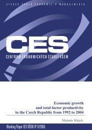 Working Paper CES VÅEM No V/2005