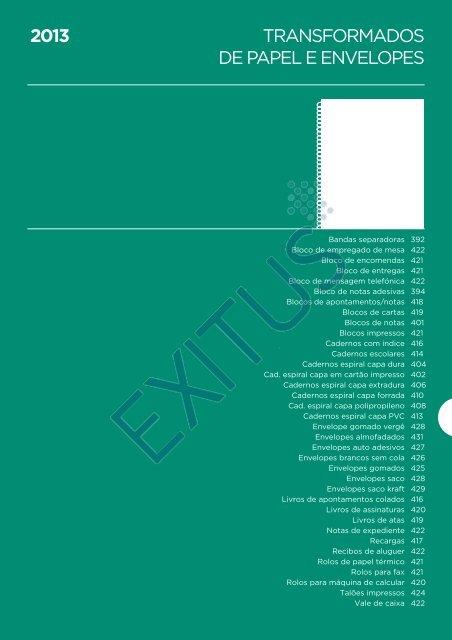 TRANSFORMADOS DE PAPEL E ENVELOPES 2013 - Exitus