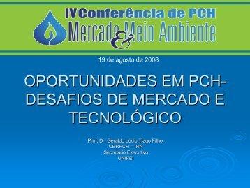 oportunidades em pch - Fórum Nacional de Energia