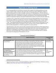 Appendix D: Defining Rural - Virginia's State Rural Health Plan
