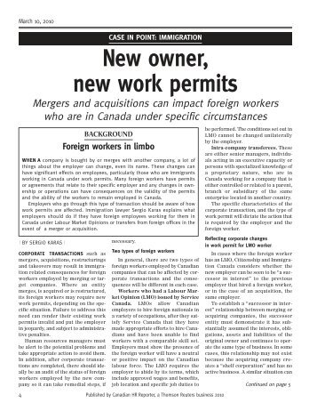 New Owner, New Work Permits - Karas & Associates
