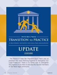Transition to Practice Update - State Bar of Texas