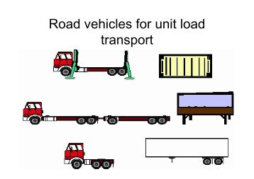 Road vehicles for unit load transport - CTL