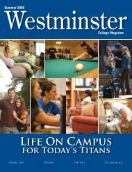 Life On Campus for Today's Titans - Westminster College