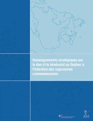 Renseignements stratégiques sur le don et le bénévolat au Québec ...