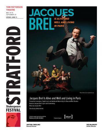 Jacques Brel.indd - Stratford Festival