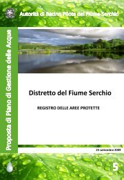 Registro delle aree protette - Autorità di Bacino del fiume Serchio