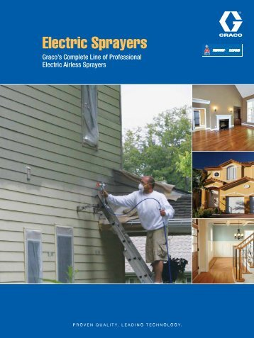 SW Electric Airless Sprayers Brochure - Graco Inc.