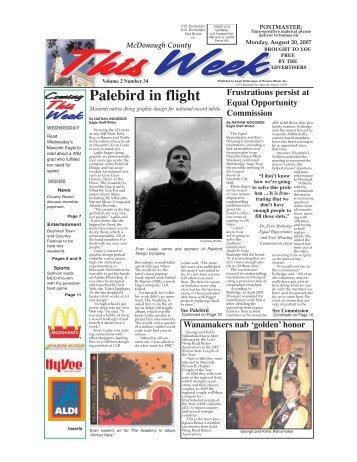 Palebird in flight - Macomb Eagle