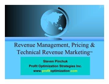 Revenue Management, Pricing & Technical Revenue MarketingTM