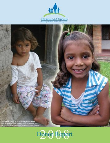 2008 Donor Report - Friends of the Orphans