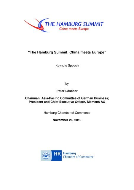 Address by the Chairman of Asia-Pacific ... - Hamburg Summit