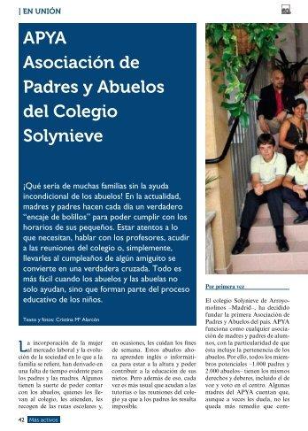 En Unión: Asociación de Padres y Abuelos del Colegio ... - Imserso