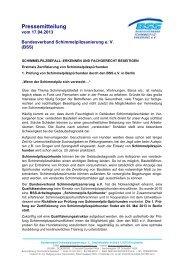 Pressemitteilung - Bundesverband Schimmelpilzsanierung eV