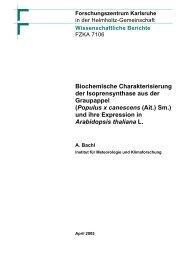 Biochemische Charakterisierung der ... - Kit-Bibliothek - FZK