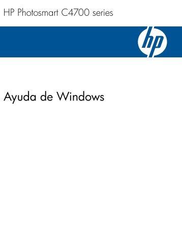 1 Ayuda de HP Photosmart C4700 series - Hewlett Packard