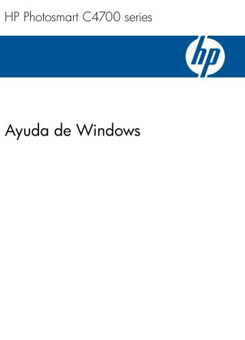 1 Ayuda de HP Photosmart C4700 series - Hewlett Packard