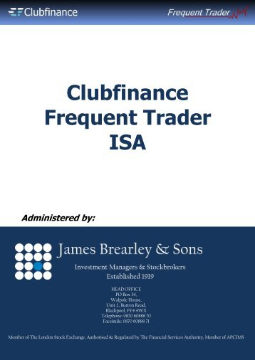 Clubfinance Frequent Trader ISA Administered by