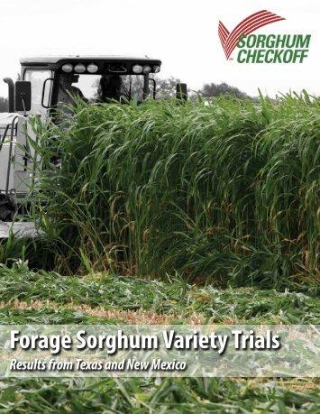Forage Sorghum Variety Trials - Sorghum Checkoff