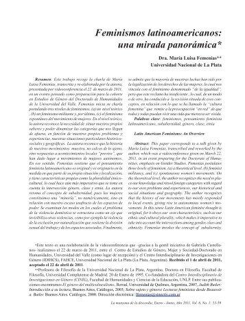 Feminismos latinoamericanos: una mirada panorámica - Revista La ...