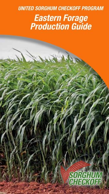 Eastern Forage Production Guide - Sorghum Checkoff