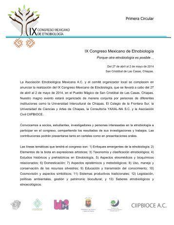 convocatoria - Asociación Etnobiológica Mexicana, AC