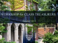 Managing the Treasury and Class Finances - Wellesley College