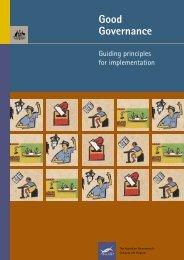 Good Governance; Guiding Principals for implementation
