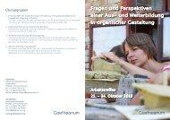 Fragen und Perspektiven einer Aus- und Weiterbildung in ...