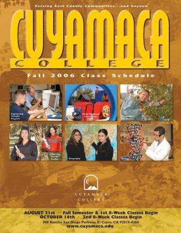Fall 2006 - Cuyamaca College