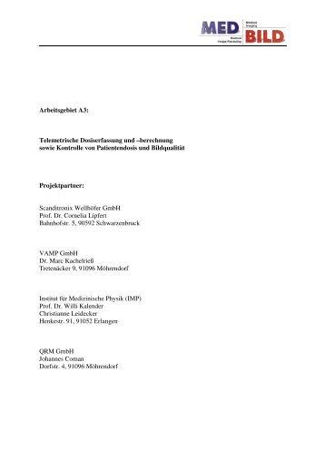 2004 MedBild Jahresbericht A3 - Instituts für Medizinische Physik