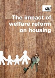 CASE - The impact of welfare reform on housing - Moat