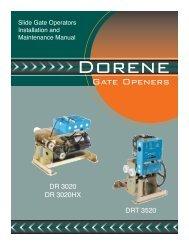 Download Installation Manual - Dorene Gate Openers