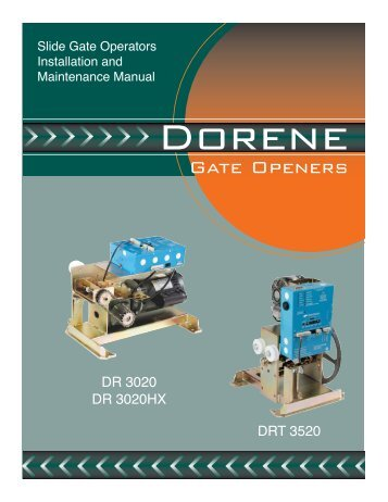 Download Installation Manual - Dorene Gate Openers